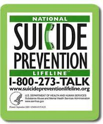 Suicide Prevention Lifeline 1-800-273-TALK